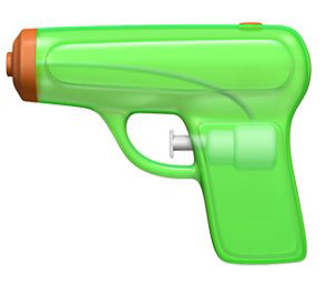 Apple's Switch to Squirt Gun Emoji Triggers Flood of indoctrination