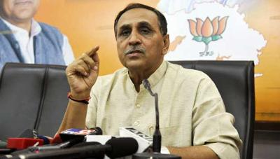 Gujarat Chief Minister Will Vijay Rupani And Deputy Chief Minister Will Nitin Patel