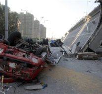 In China bridge collapse Five injured