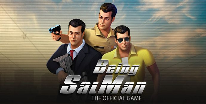 The trailer of his official action video game Being Salman Khan on Twitter