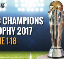 ICC Champions Trophy Matches Schedule