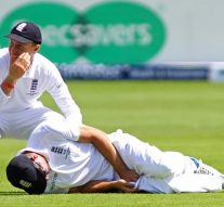 The ball hit the private part of England captain Root, L guard broke