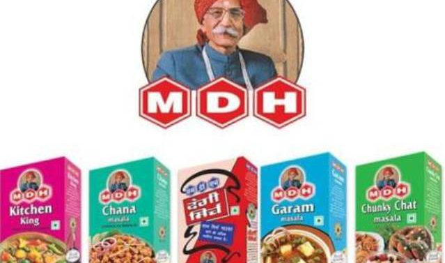 Order to examine sample of MDH spices