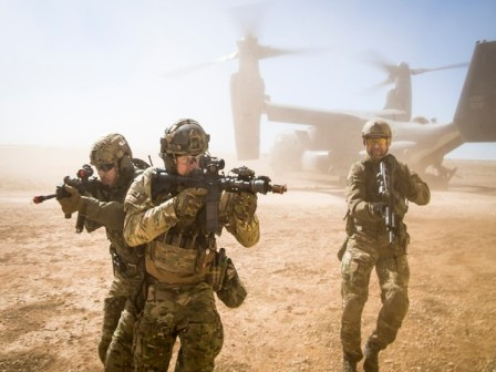 Joint operation of Afghan and US forces in Taliban stronghold