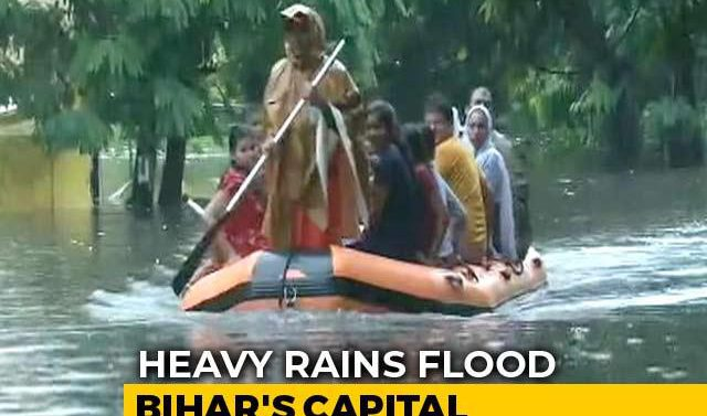 Boats on the road, Bihar drowned in flood