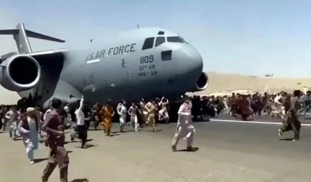 Shocking video shows 3 people falling off plane mid-air in Kabul